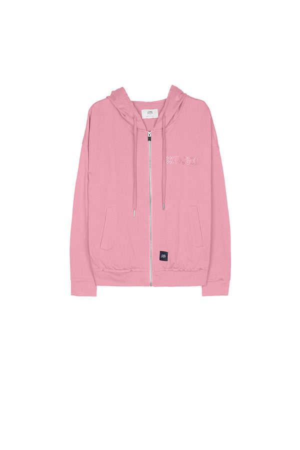 Hoodie zip-up regular Sixth June Women pink W2649CSW