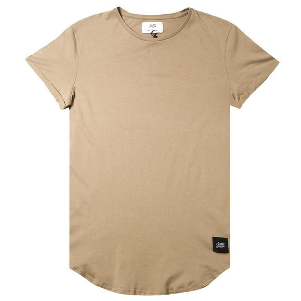 T-shirt bas arrondi Sixth June beige