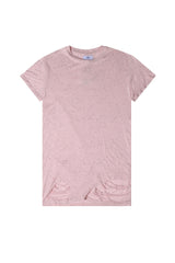 T-shirt oversize moucheté Sixth June destroy rose M2222VTS