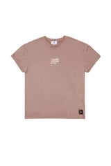 T-shirt logo Sixth June Paris camel M2327WTS