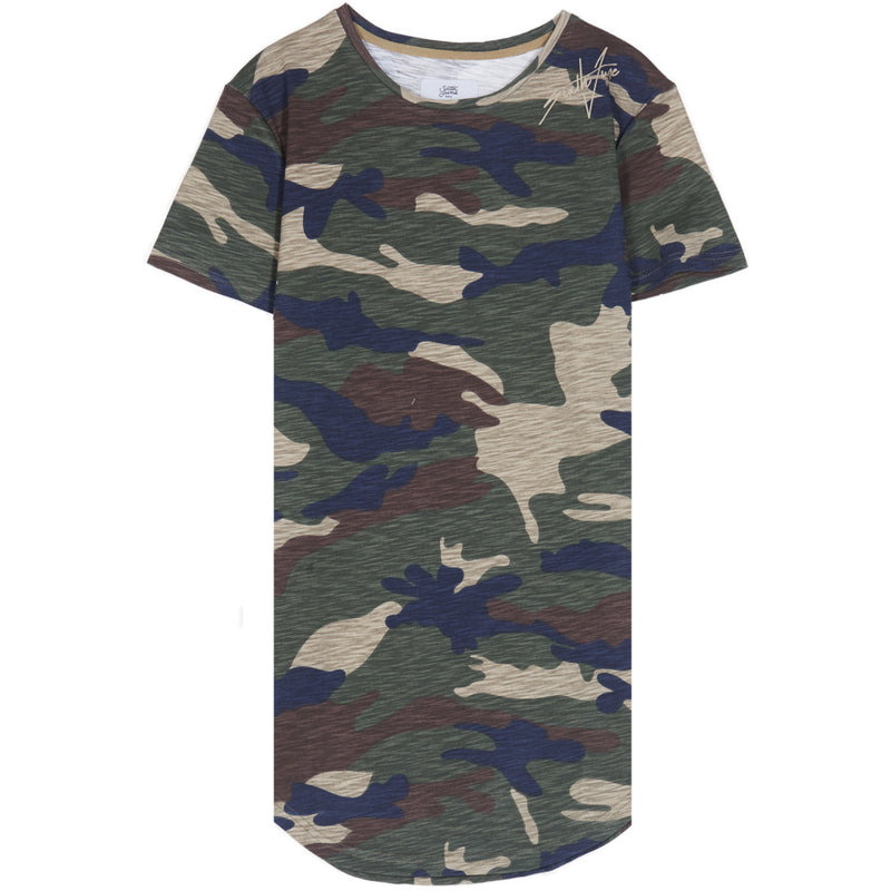 Tshirt camo with signature print