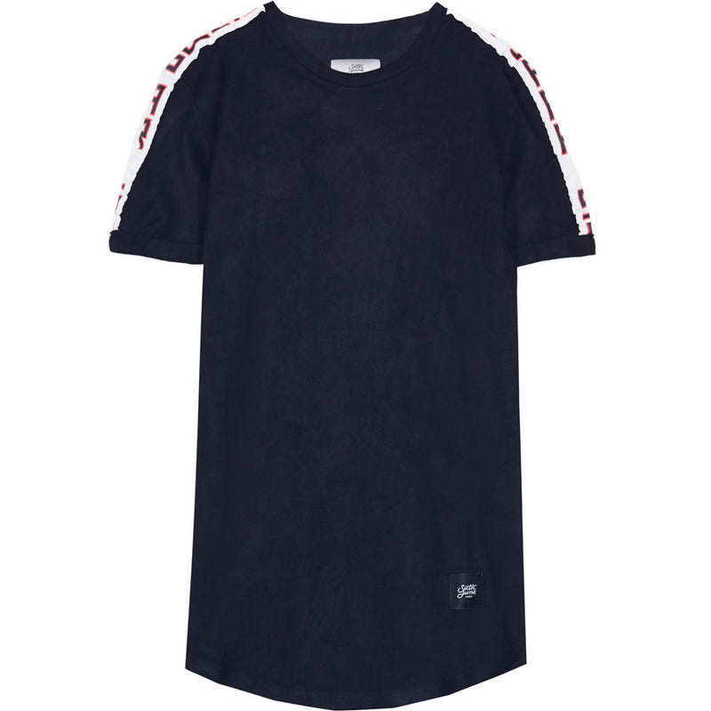 suede tshirt with printed band