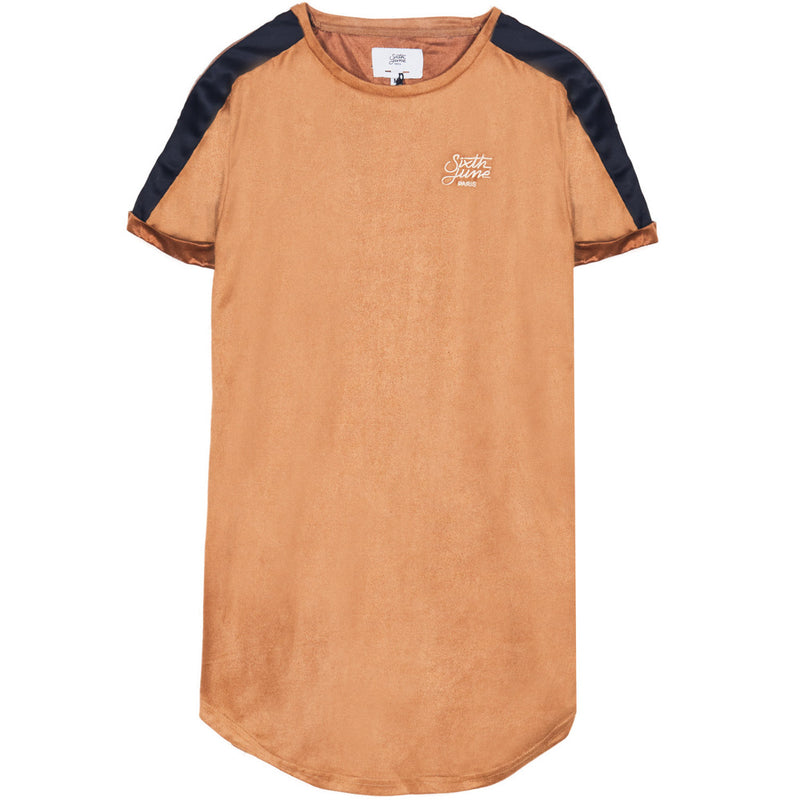 suede tshirt with bands