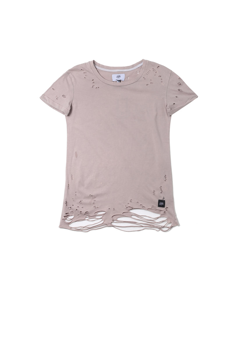 T-shirt destroy Sixth June Femme rose W2370VTS