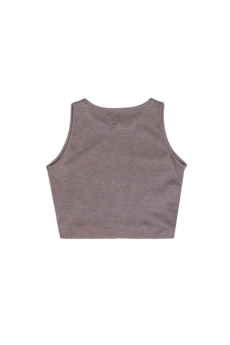 Crop top uni gris clair 1838C