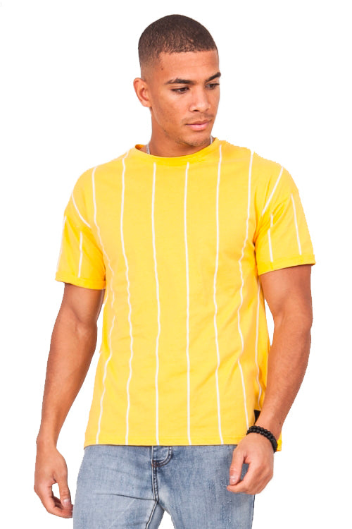 T-shirt baseball jaune