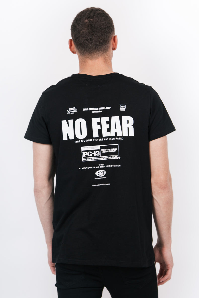 T-shirt film No Fear noir