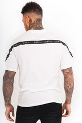 Back Taping T-Shirt White