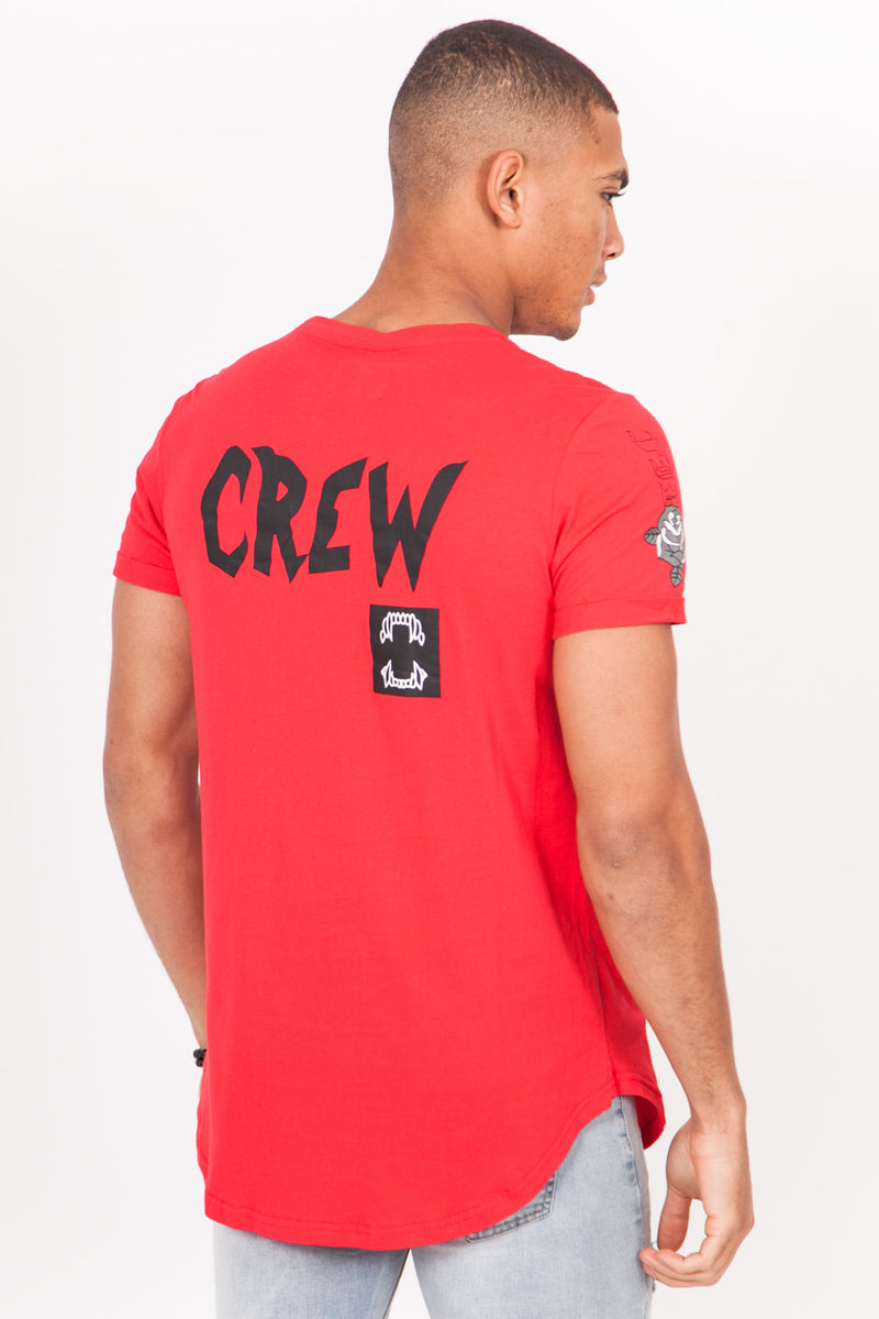 T-shirt crew rouge