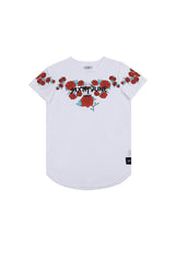 T-shirt roses flock print Sixth June white M2525VTS (Default)