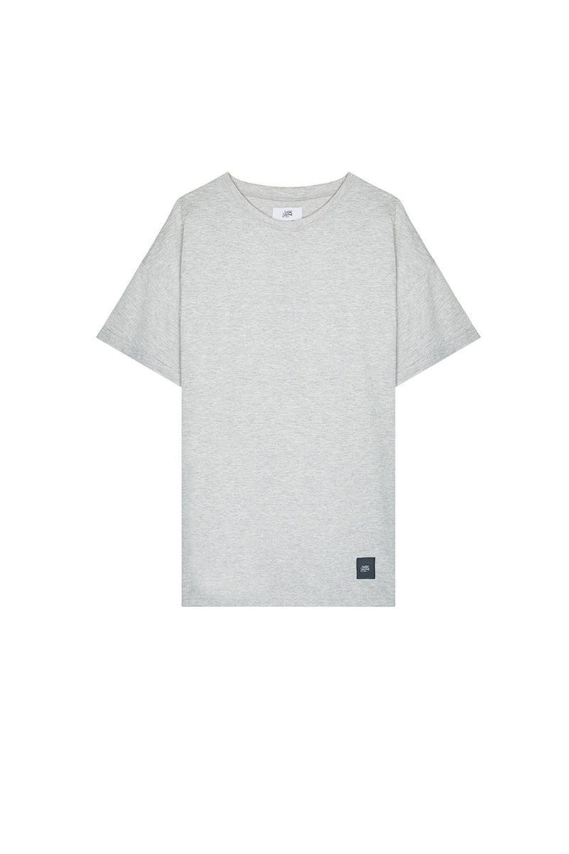 T-shirt épaules tombantes Sixth June gris clair
