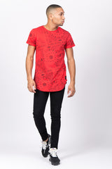 T-shirt all over bandana rouge