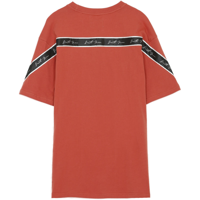 T-Shirt bandes dos rouge