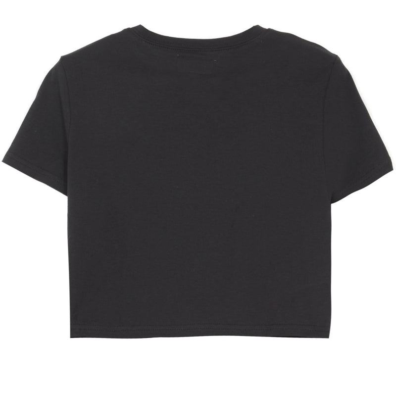 Crop-top noeud logo noir
