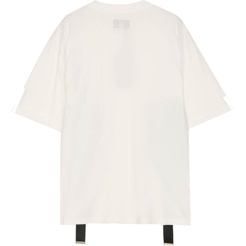 T-shirt double poches sangle blanc