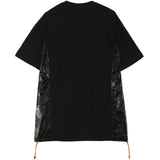 T-shirt multi-poches brillantes noir