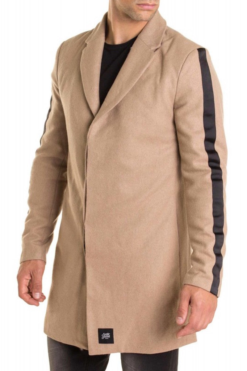 long coat with bands