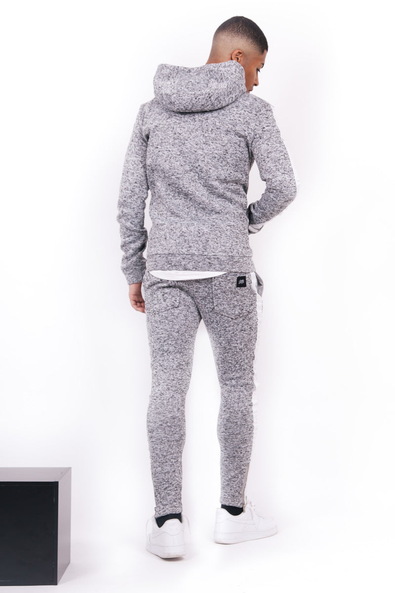tipped bands joggers grey