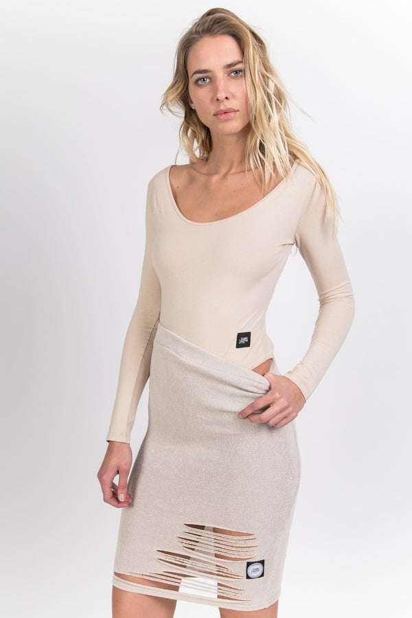 Body manches longues beige