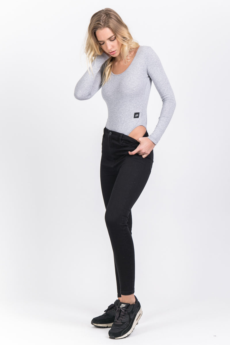 Body manches longues gris