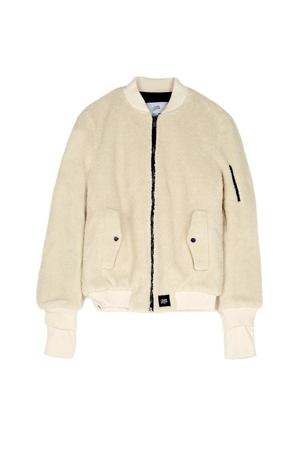 Bomber faux mouton Sixth June beige