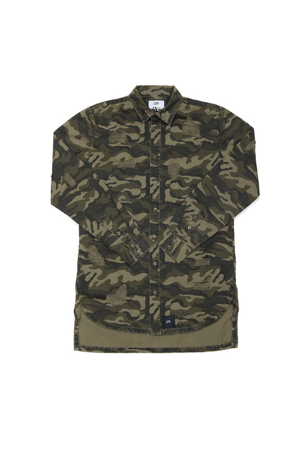 Chemise jean Sixth June destroy camouflage M2444HSH