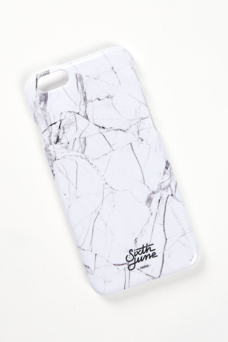Coque iPhone 6 marbre blanc 1428A