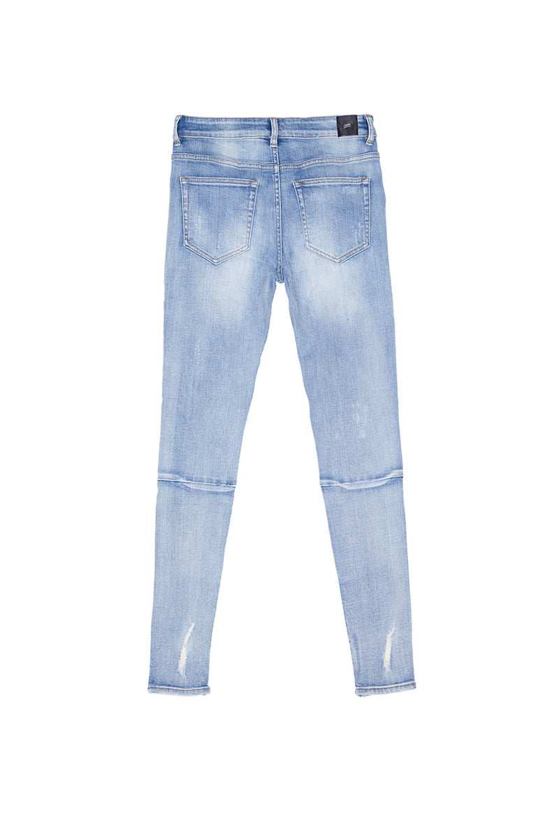 Jean destroy zips skinny Sixth June bleu