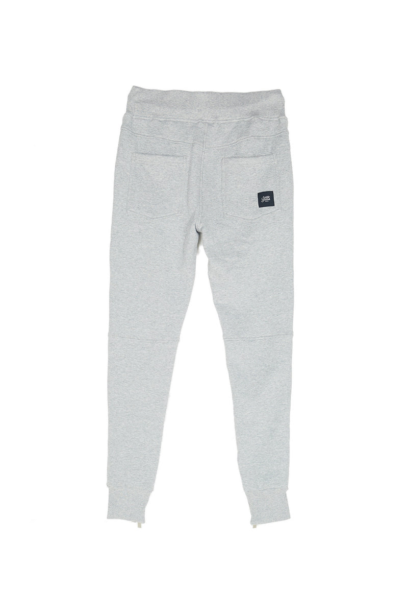 Jogging zips slim gris clair