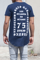 T-shirt All Seasons No Season bleu M2207VTS