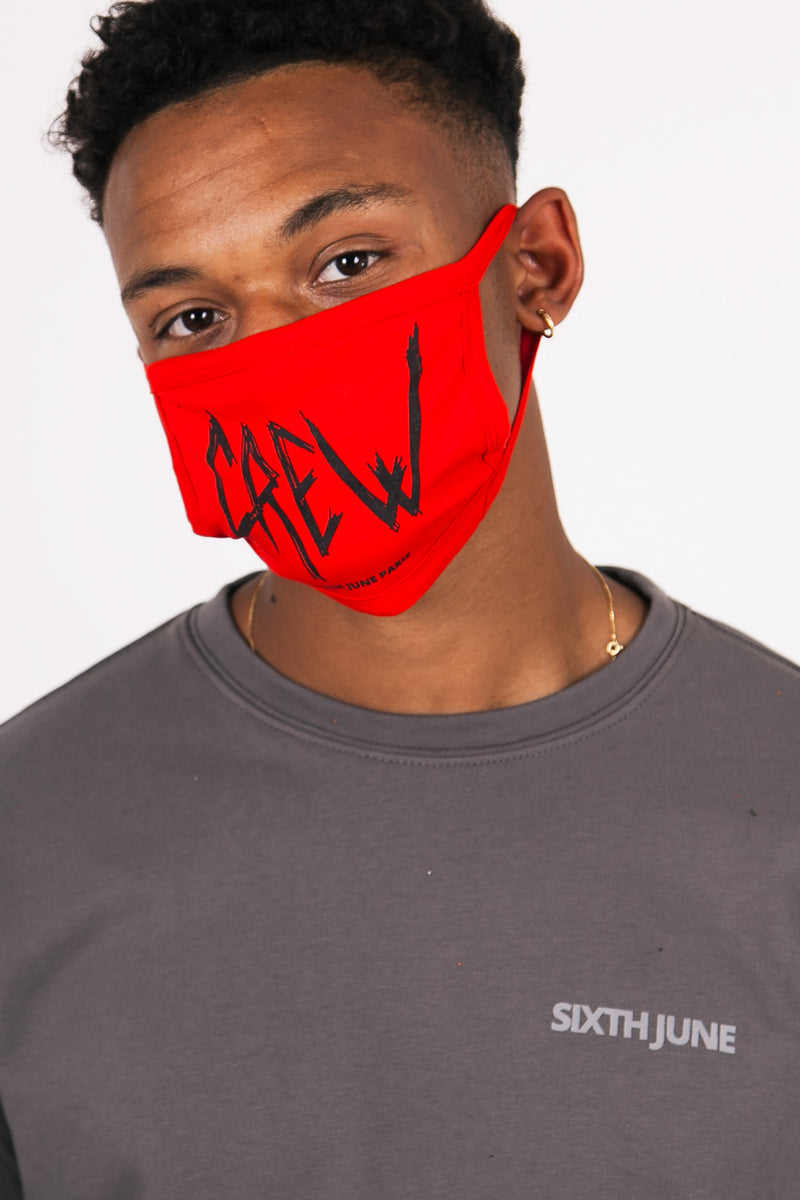 Crew mask rouge