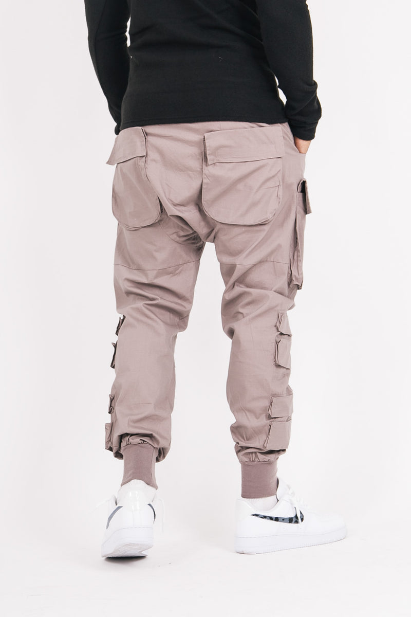 Large tactical cargo pants brown