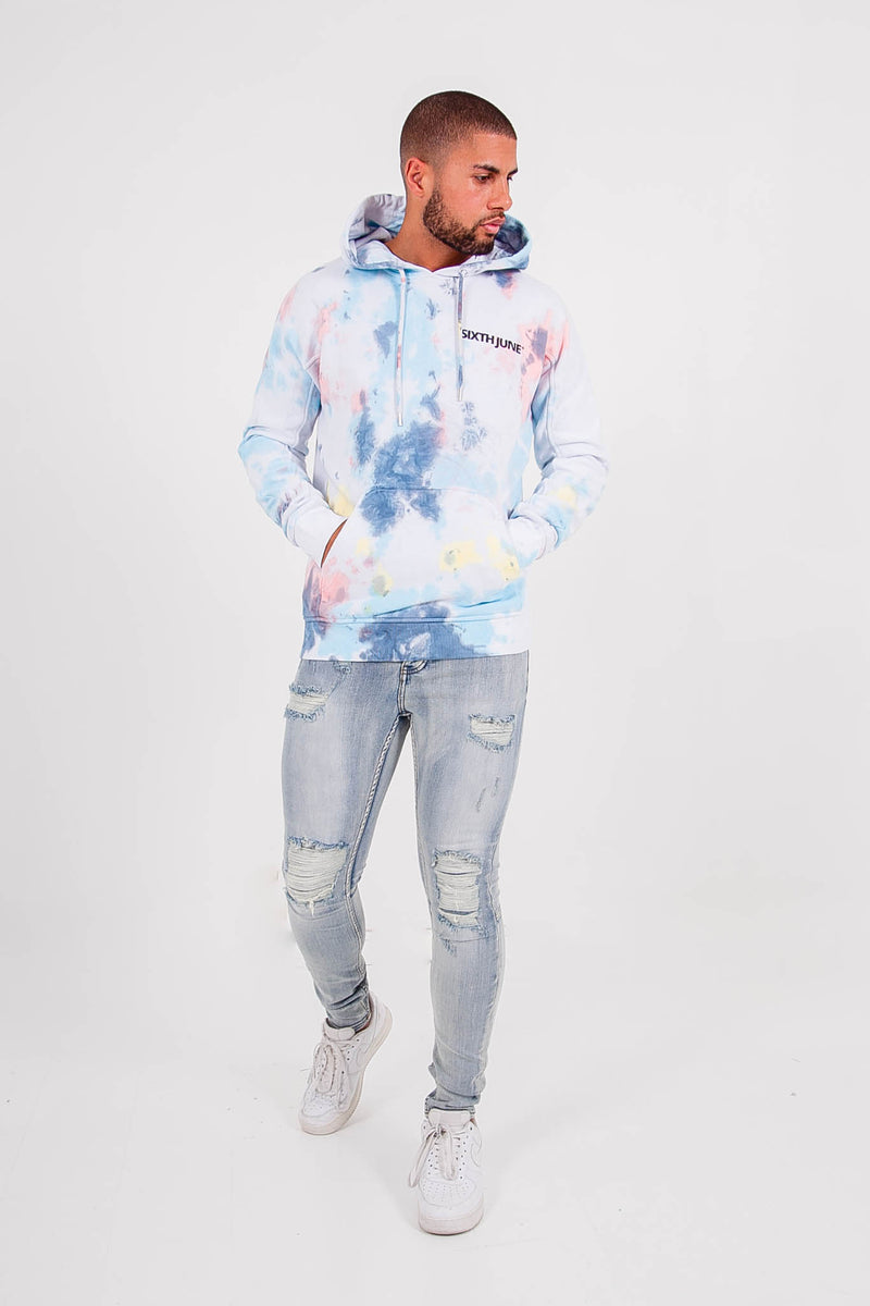Multicolored hoodie white