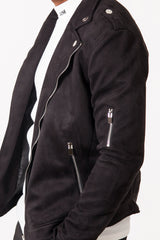 Jacket perfecto suede Sixth June black
