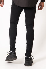 Patch Destroy Reflective Jeans Black