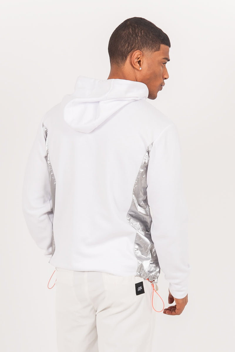 Sweat multi-poches brillantes blanc