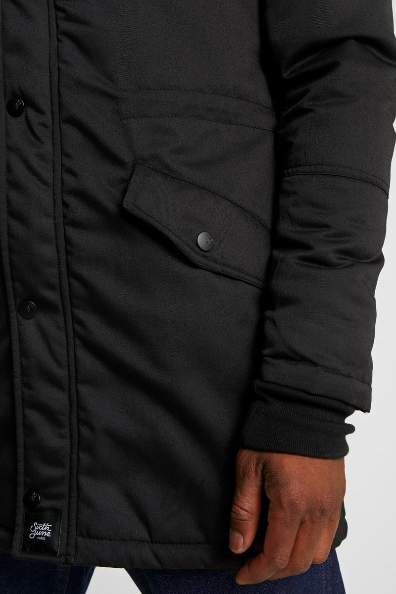 Fur Parka Black