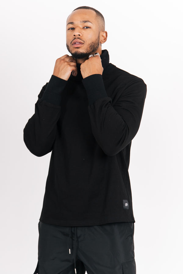 Sweat double col noir