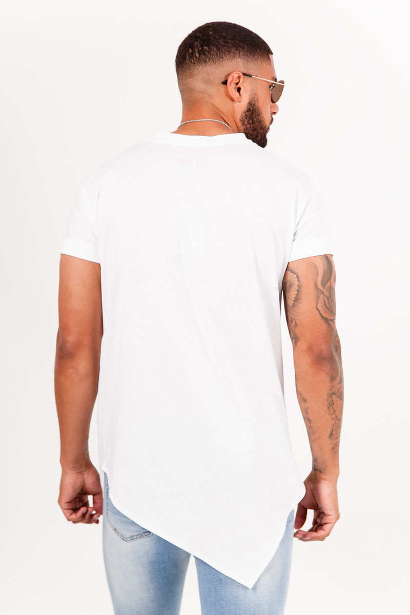 T-shirt large pointe blanc