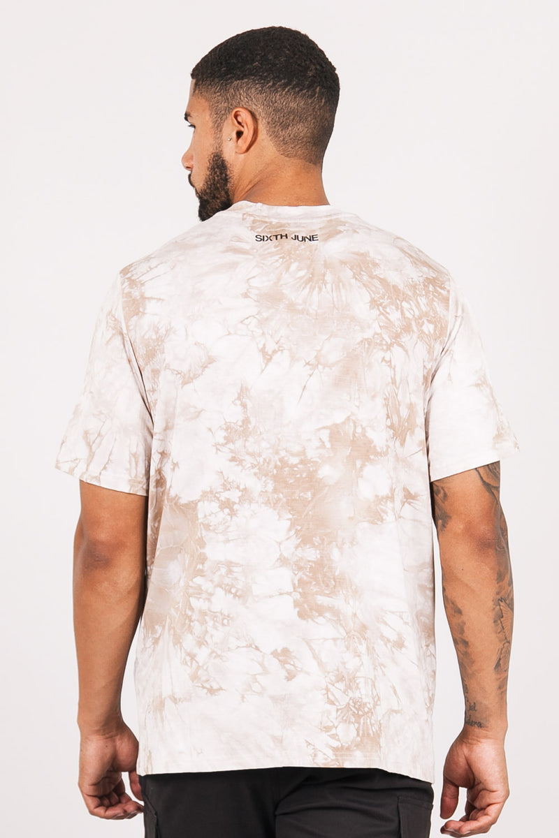 T-shirt aigle tie and dye beige