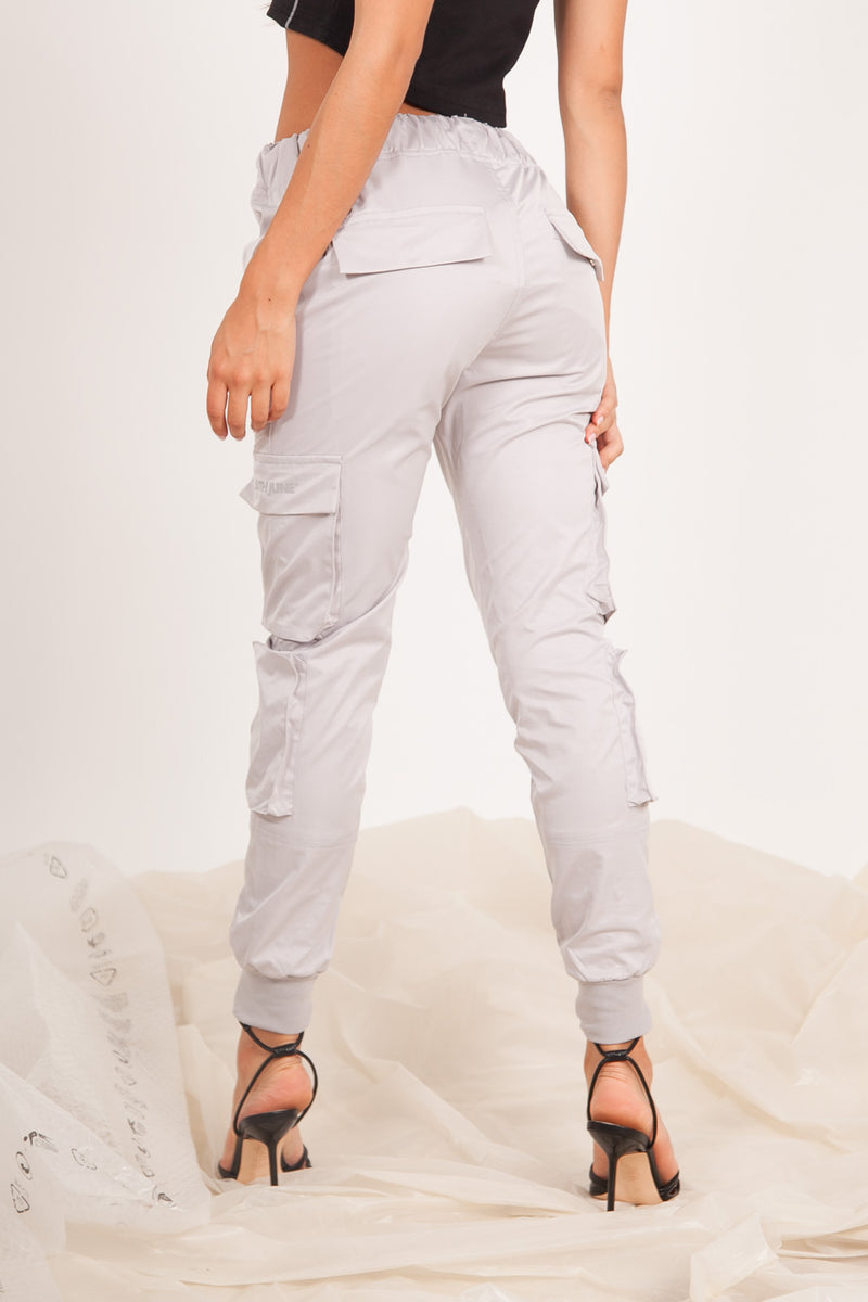 Zip Cargo Pants Grey