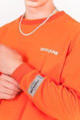 Sweat réfléchissant patch logo orange