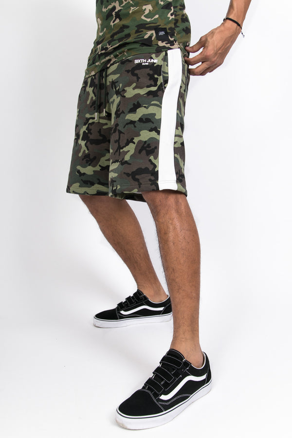 Strips Camouflage Shorts Green