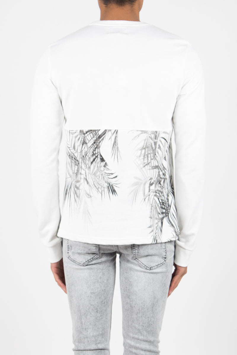 Sweat Paris 75 Sixth June Junior tropical blanc 1361V