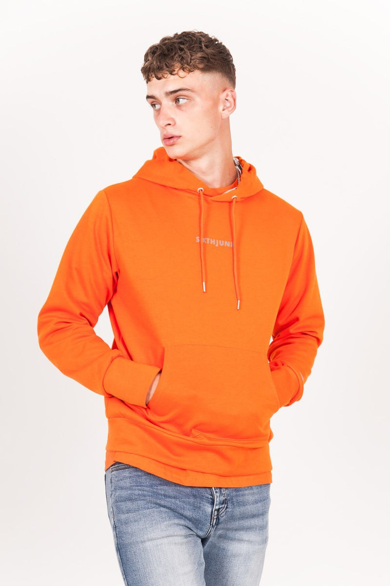 Sweat capuche aluminium orange