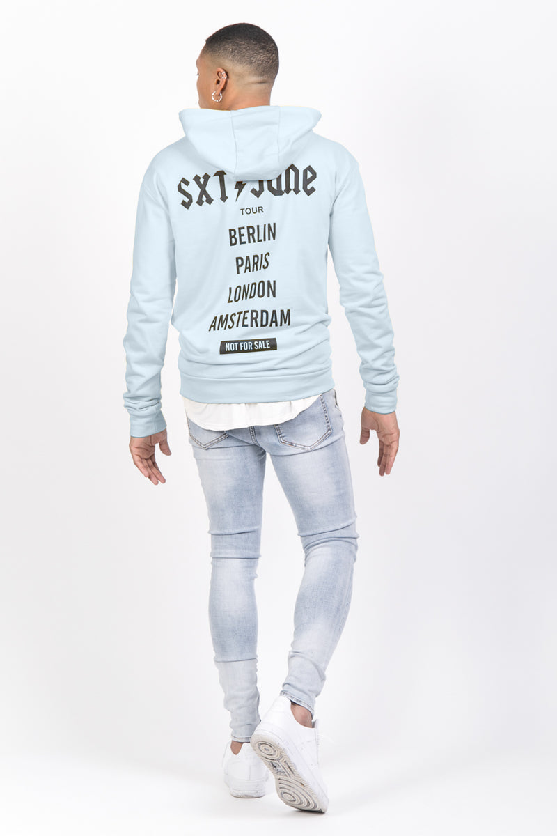 Sweat capuche crew tour bleu