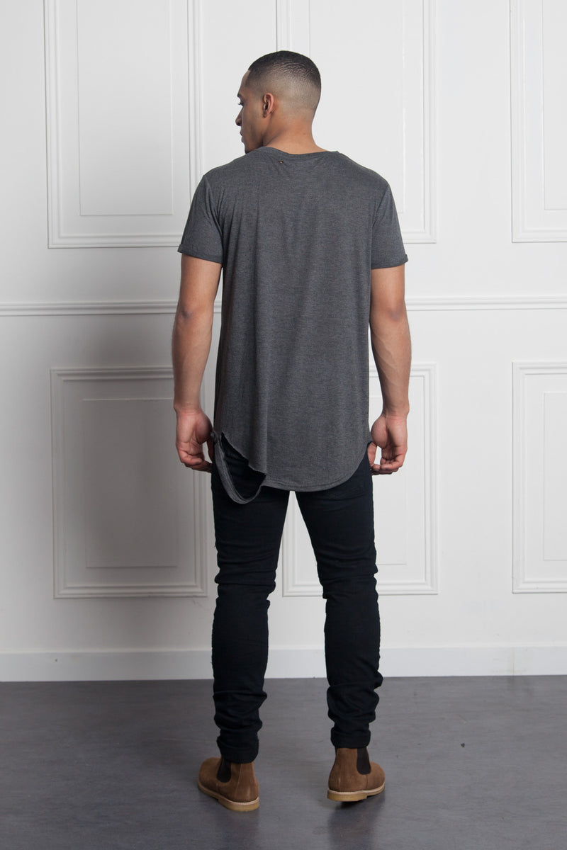 T-shirt chest pocket dark grey M2511VTS