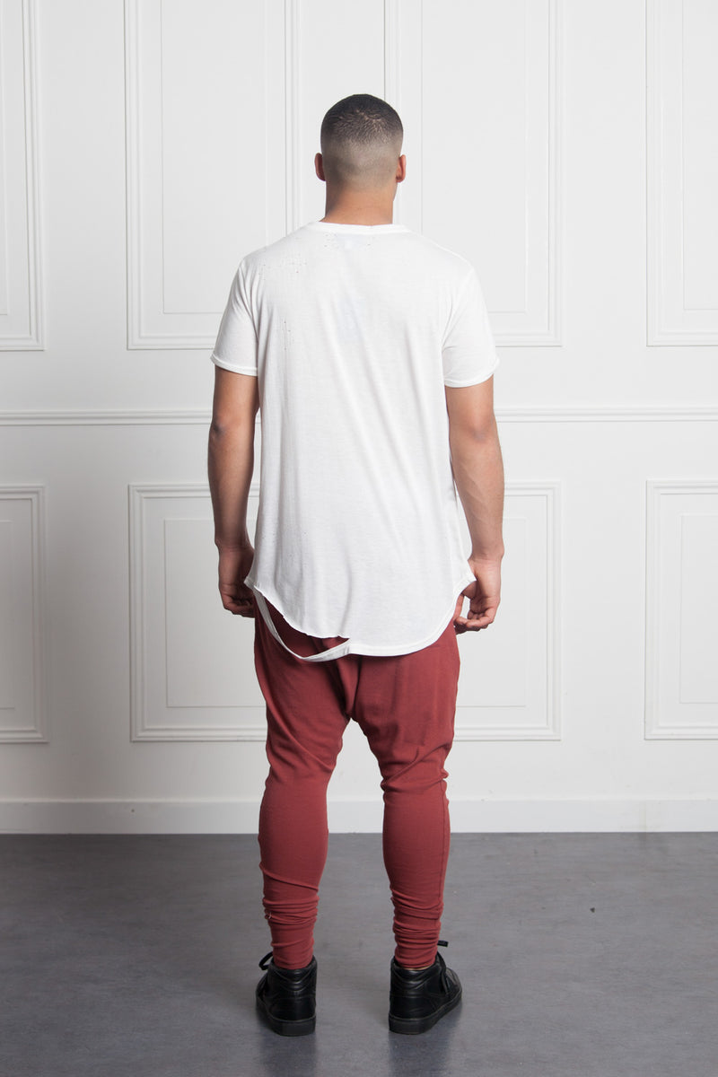 T-shirt chest pocket white M2511VTS