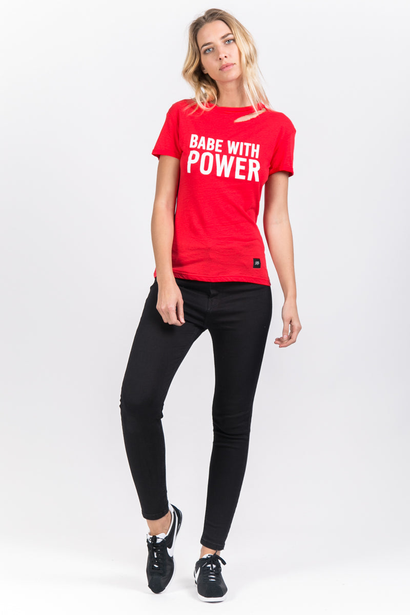 T-shirt Babe with power rouge
