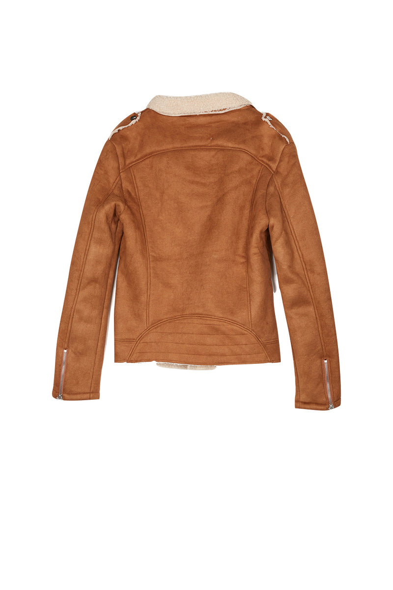 Perfecto revers faux mouton camel